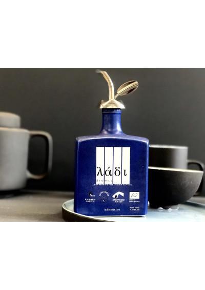 Ladi Biosas biologische extra virgin Griekse olijfolie. Handgemaakte keramische blue editie 250 ml