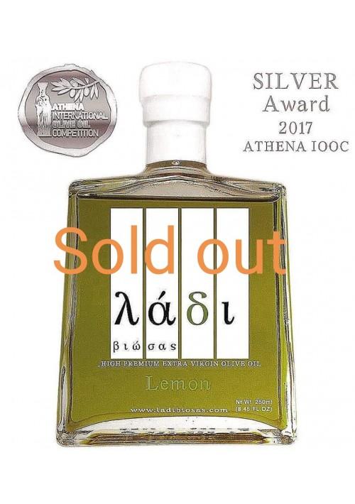 Ladi Biosas  biologische extra virgin Griekse olijfolie met citroen, 250ml.