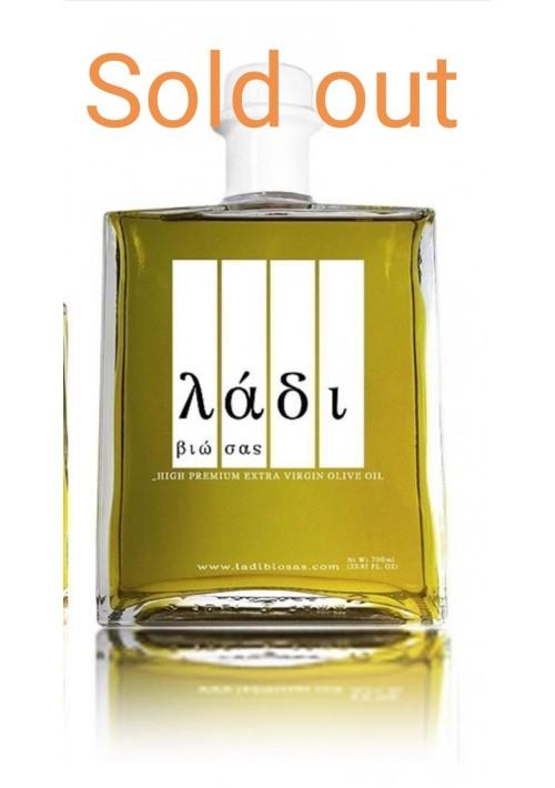 Ladi biosas biologische  extra virgin Griekse olijfolie 700ml. koroneiki olijf.