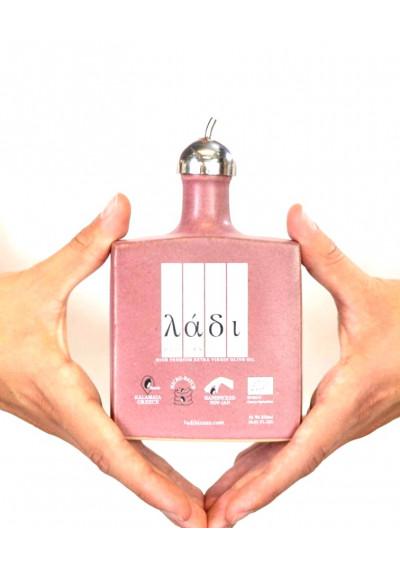Ladi Biosas extra virgin Griekse olijfolie handgemaakte keramische Pink Project editie 250ml.