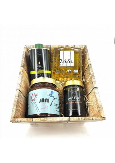 ladi biosas, Hellenic Nature, kersen jam, biologische honing 1020gr.