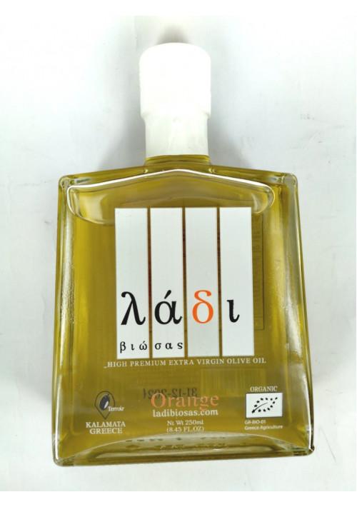 Ladi Biosas biologische extra virgin Griekse olijfolie met sinaasappel,fles 250ml.