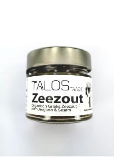 Talos Grieks Zeezout met oregano & sesam 150 gram.