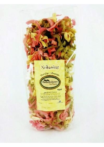Gilopites pasta(buffelmelk) met spinazie en rode bietjes 400gr.