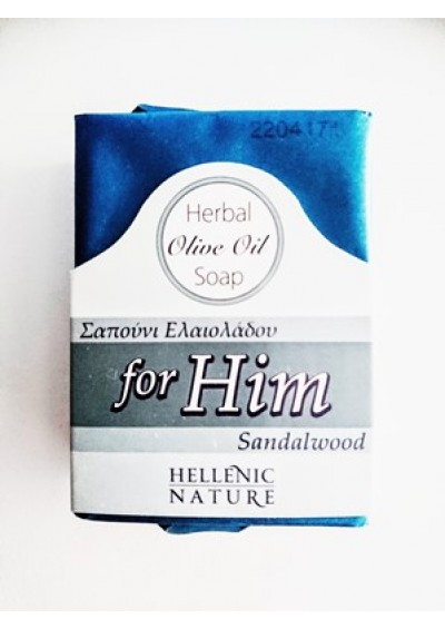 Hellenic Nature olijfolie zeep sandalwood 100 gr.